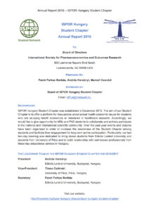 ISPOR_Hungary_SC_Annual_Report_2016